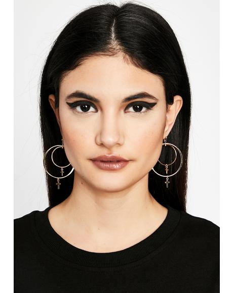 Fault In My Faith Hoop Earrings