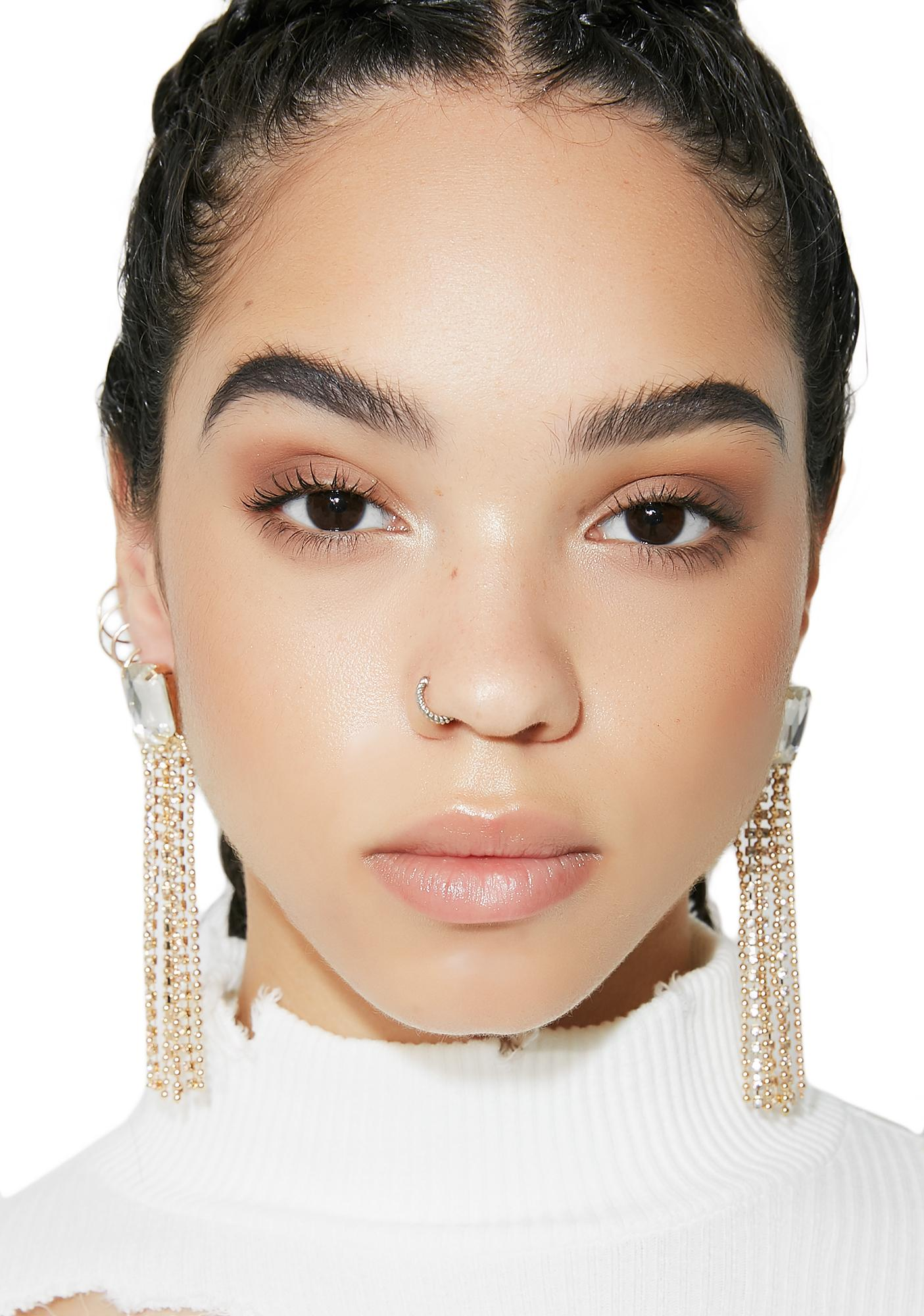 New Money Rhinestone Fringe Earrings