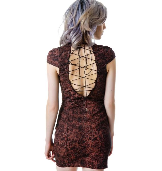 Scarlette Open Back Lace Up Dress