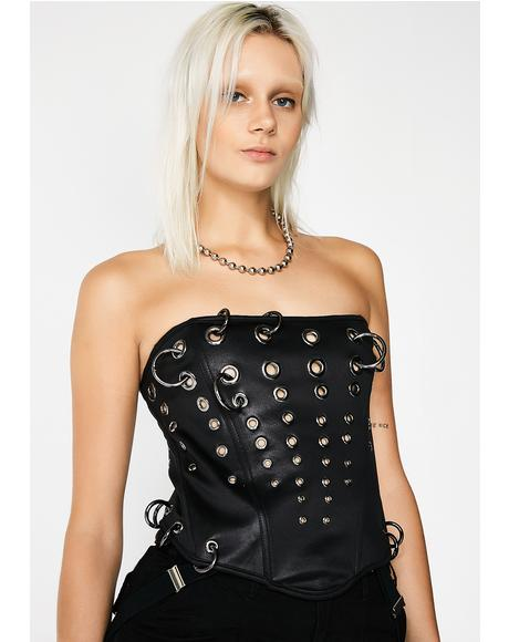 Choose Your Weapon Corset Top