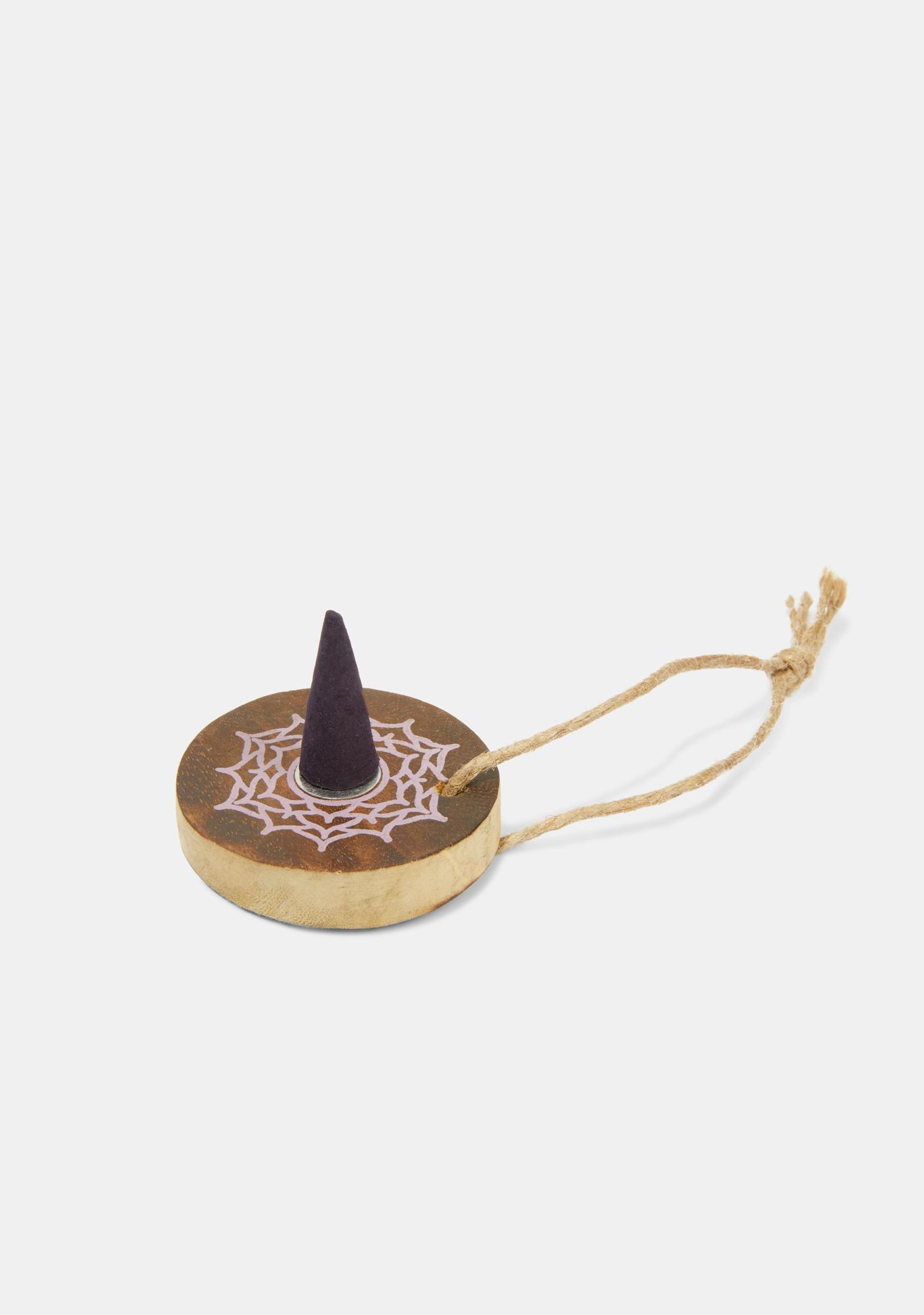 Blackberry Crown Chakra Incense Cones And Holder