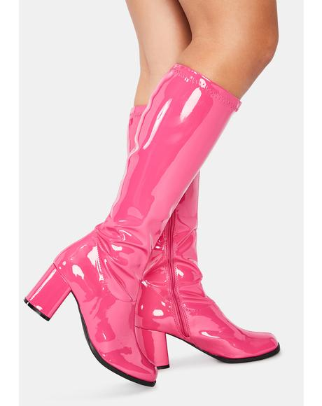Groove Squad Patent Gogo Boots