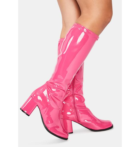 Pleaser Groove Squad Patent Gogo Boots