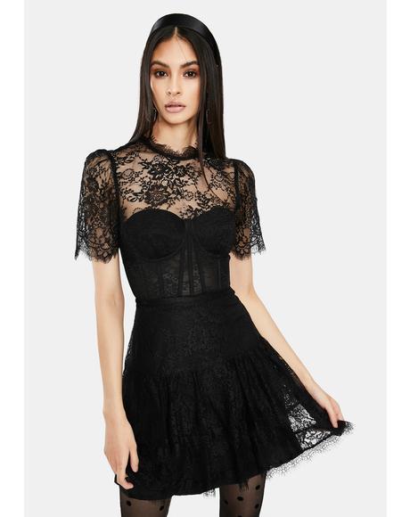 Leilani Lace Bustier Mini Dress