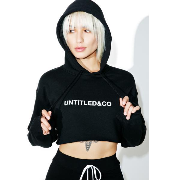 Untitled & Co Black Cropped Hoodie