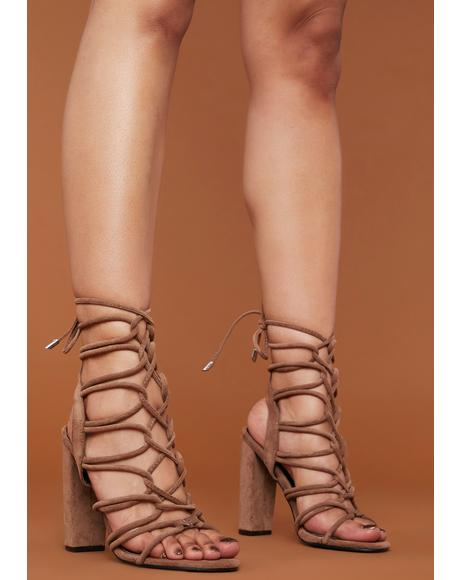 Make The Cut Wrap Sandal Heels