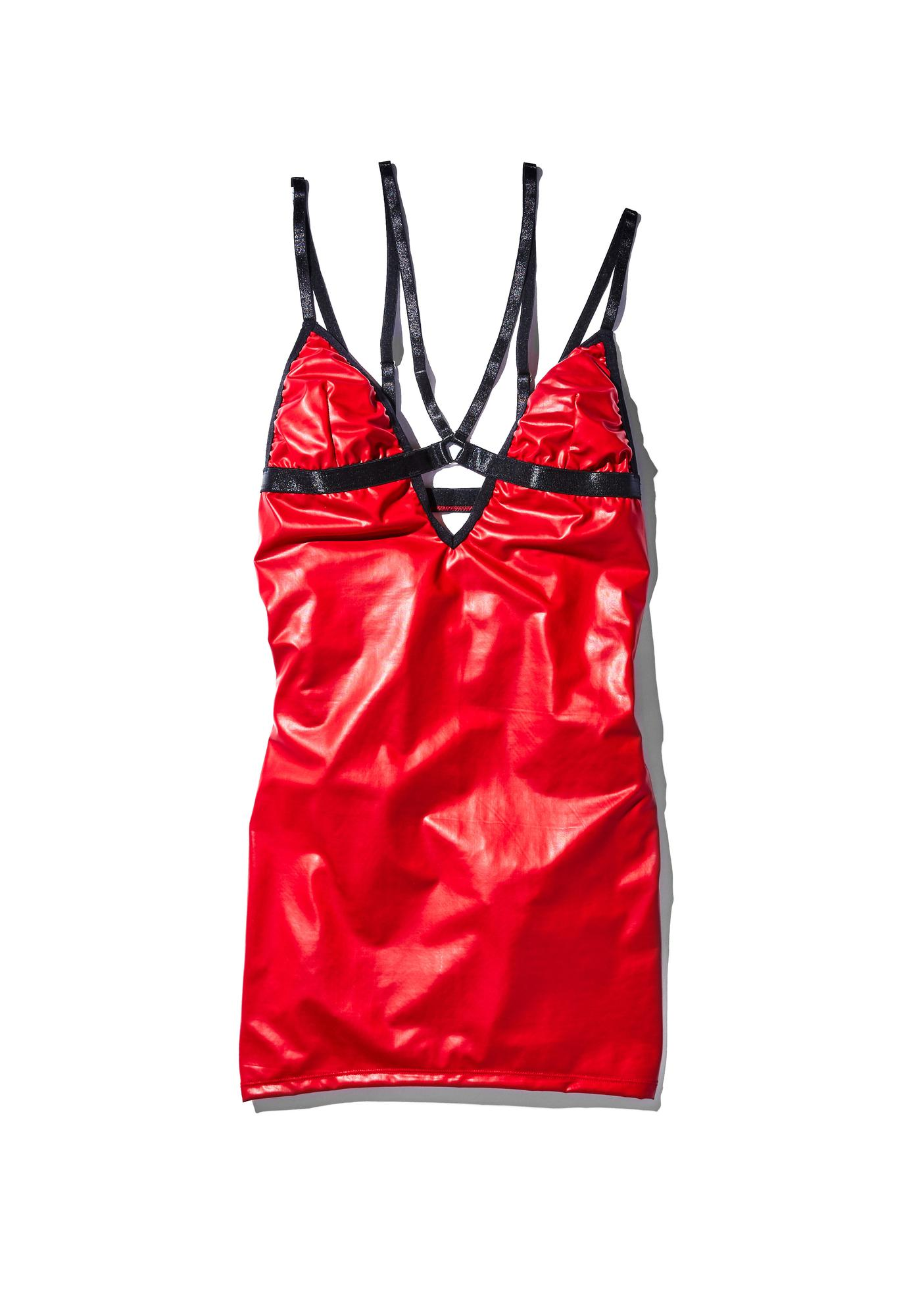 Current Mood Time Bomb Harness Mini Dress