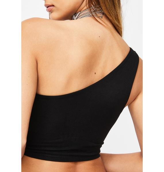 O Mighty Nobody's Perfect One Shoulder Top