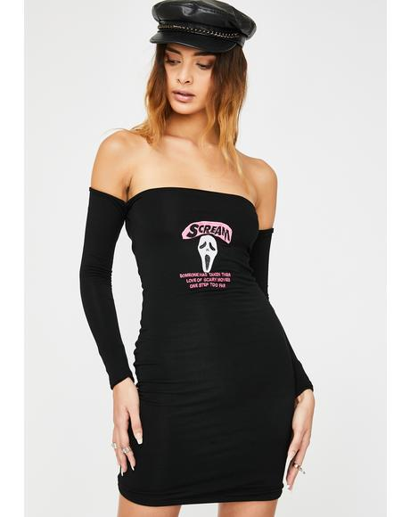 Scream Long Sleeve Dress