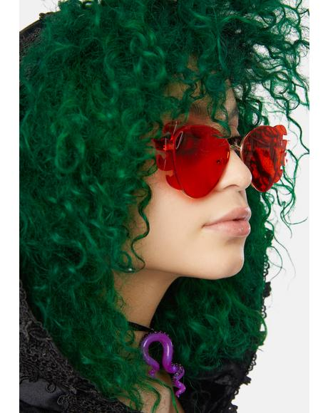 Scarlet Fire For Hire Flame Sunglasses