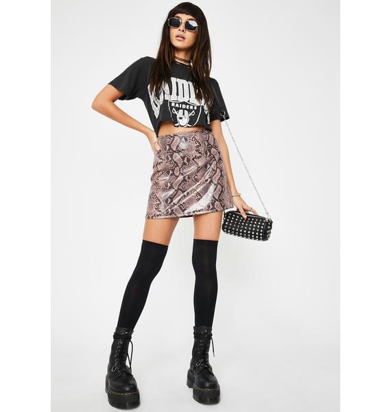 Motel Snakeskin Pelmo Skirt