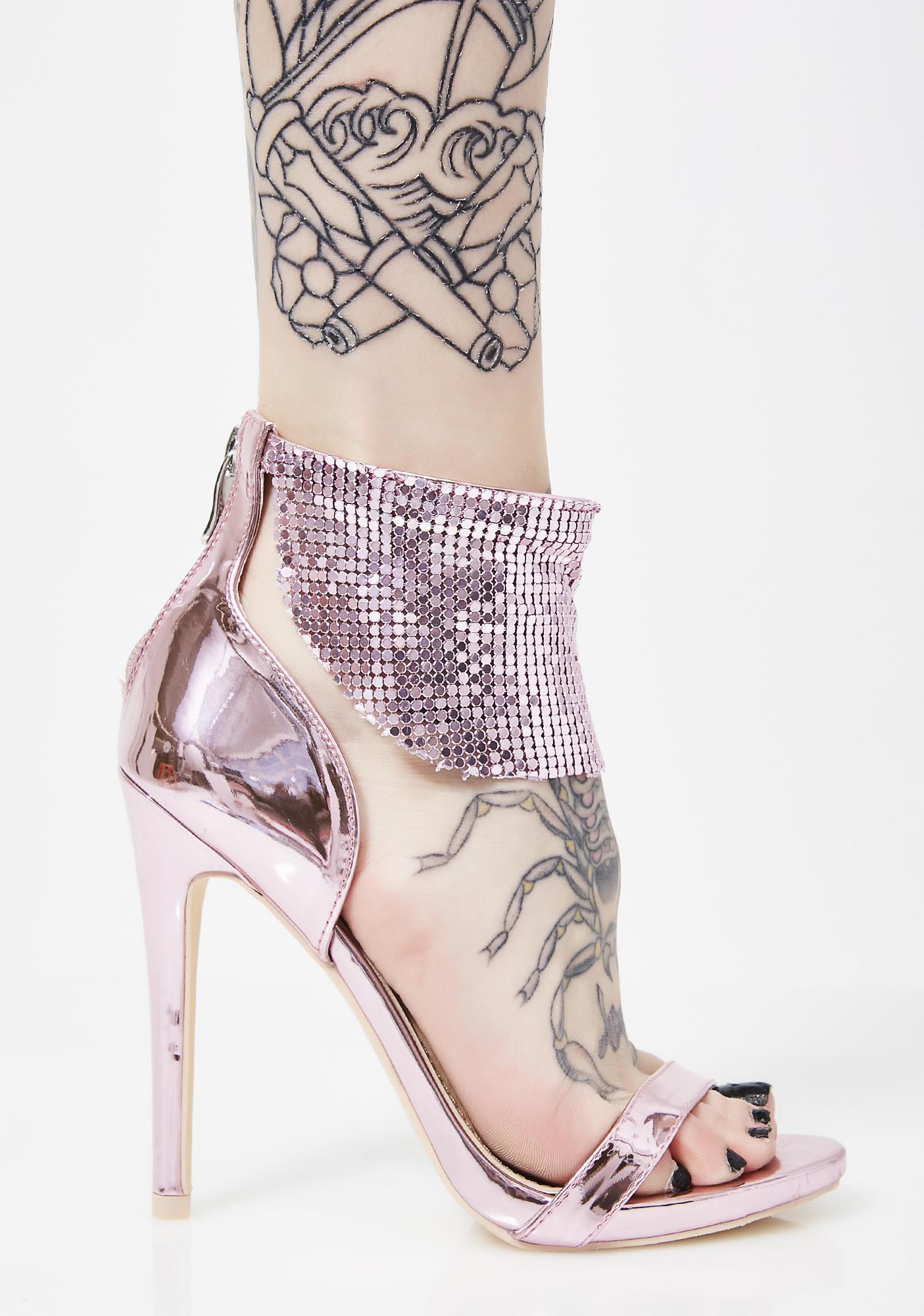 Pixie Disco Dimepiece Metallic Heels