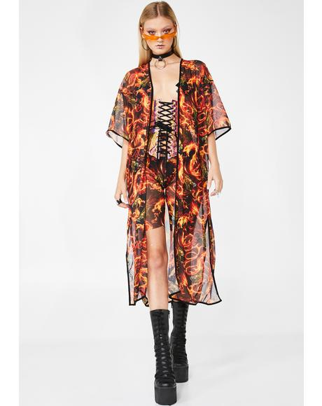 All Guns Blazin Kimono