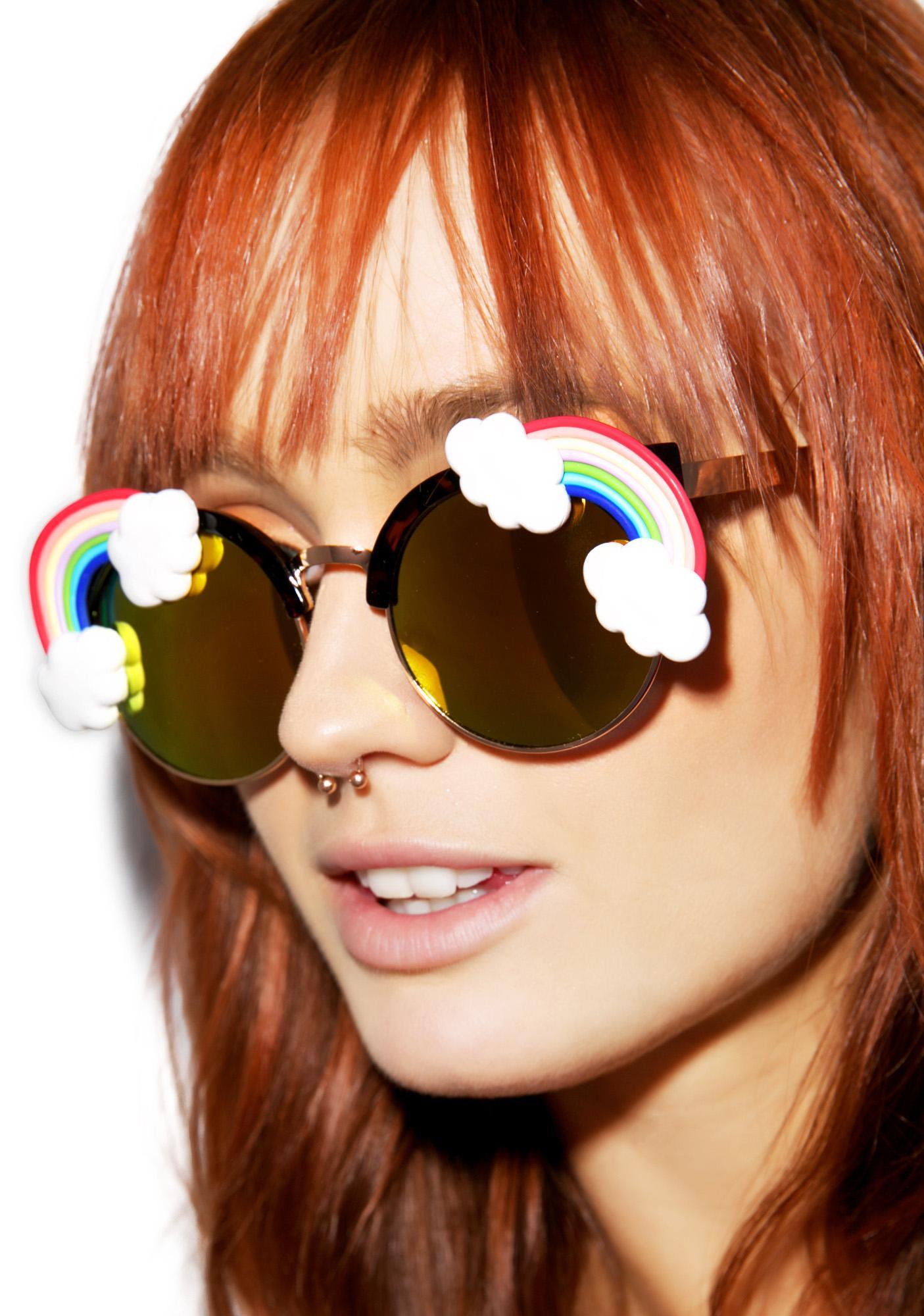 Gasoline Glamour Fantasia Rainbow Acid Sunglasses