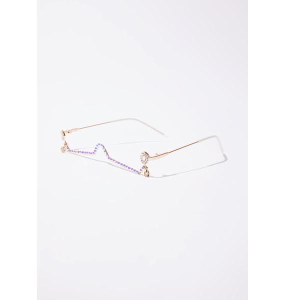 Boujee Taste Rhinestone Sunglasses