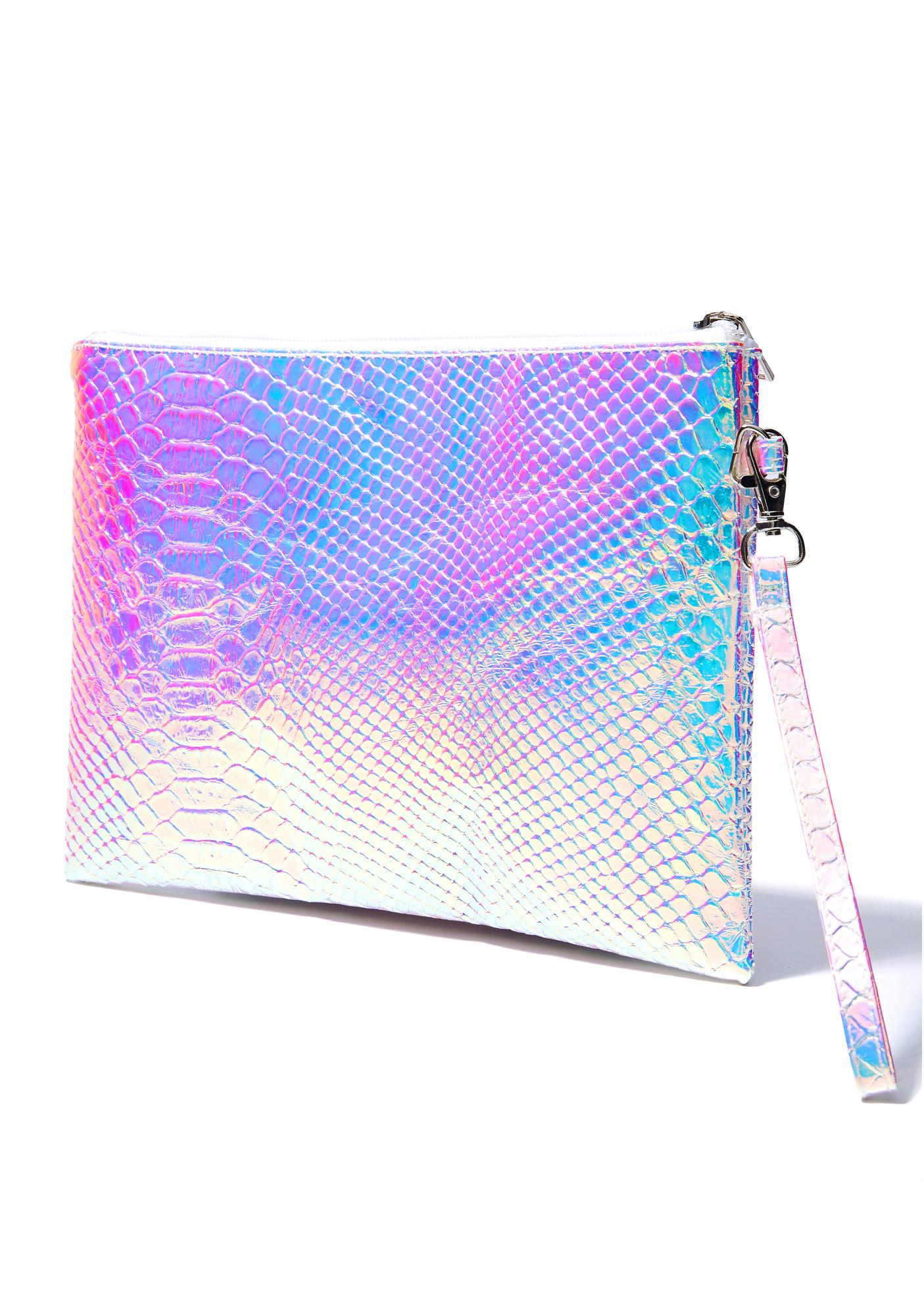 See Ya Later Holographic Clutch