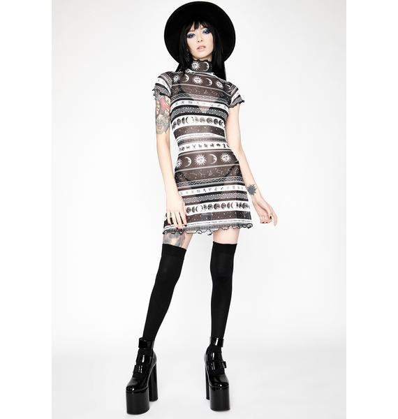 HOROSCOPEZ Divine Dreamcatcher Mesh Dress