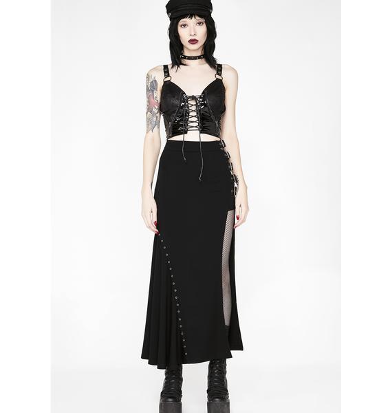 Punk Rave Punk Sexy Slim Half Skirt