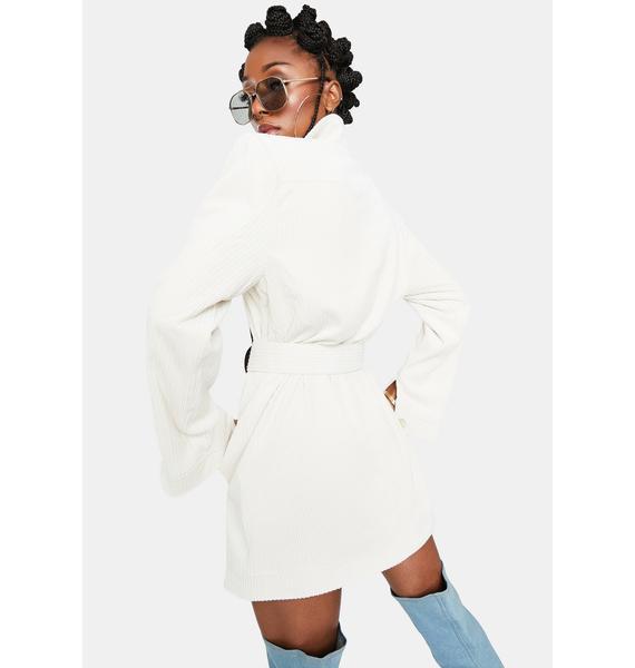 For Love & Lemons Ivory Carson Blazer Dress