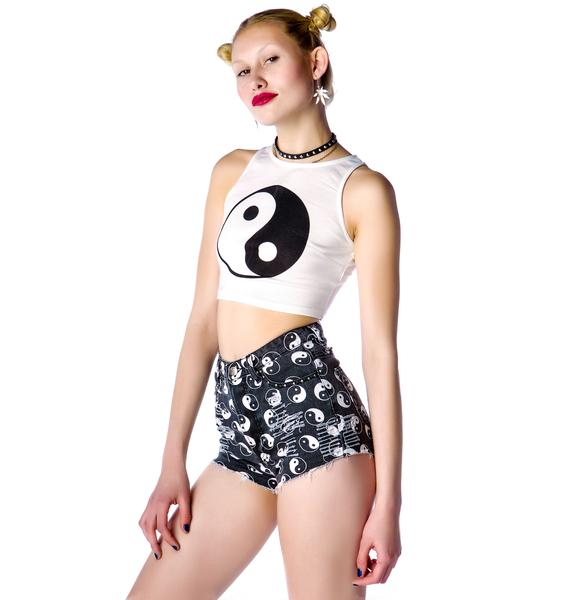 Evil Twin Chaos and Order Denim Shorts