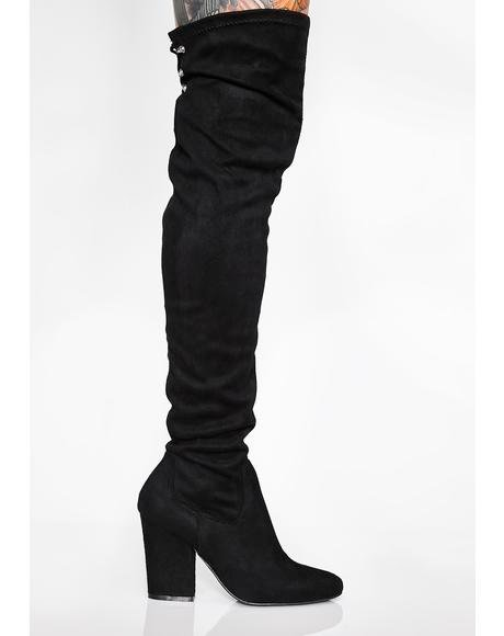 Wicked Floor It Thigh High Boots