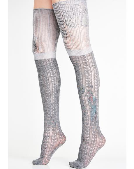 Stoned BB Doll Thigh High Socks