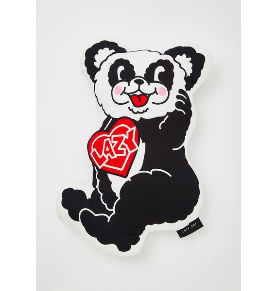 Lazy Oaf Happy Panda Pillow