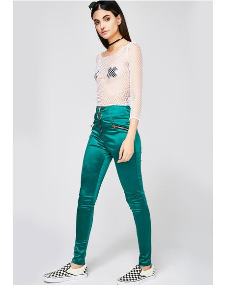 Jade Bright Idea Satin Pants