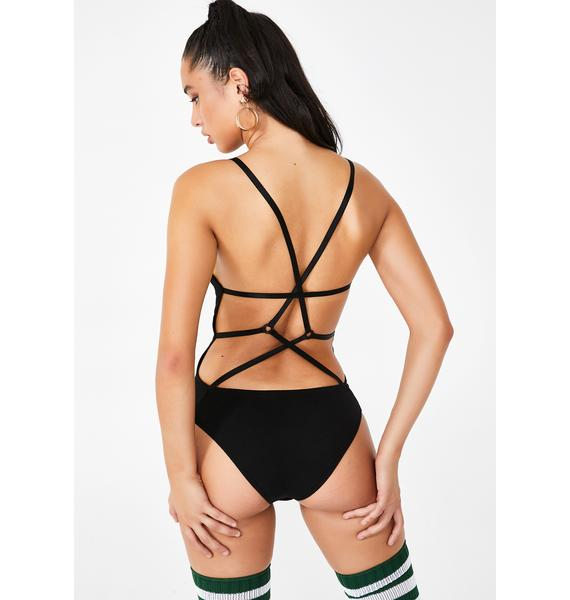 Poster Grl Holla Back Knit Bodysuit