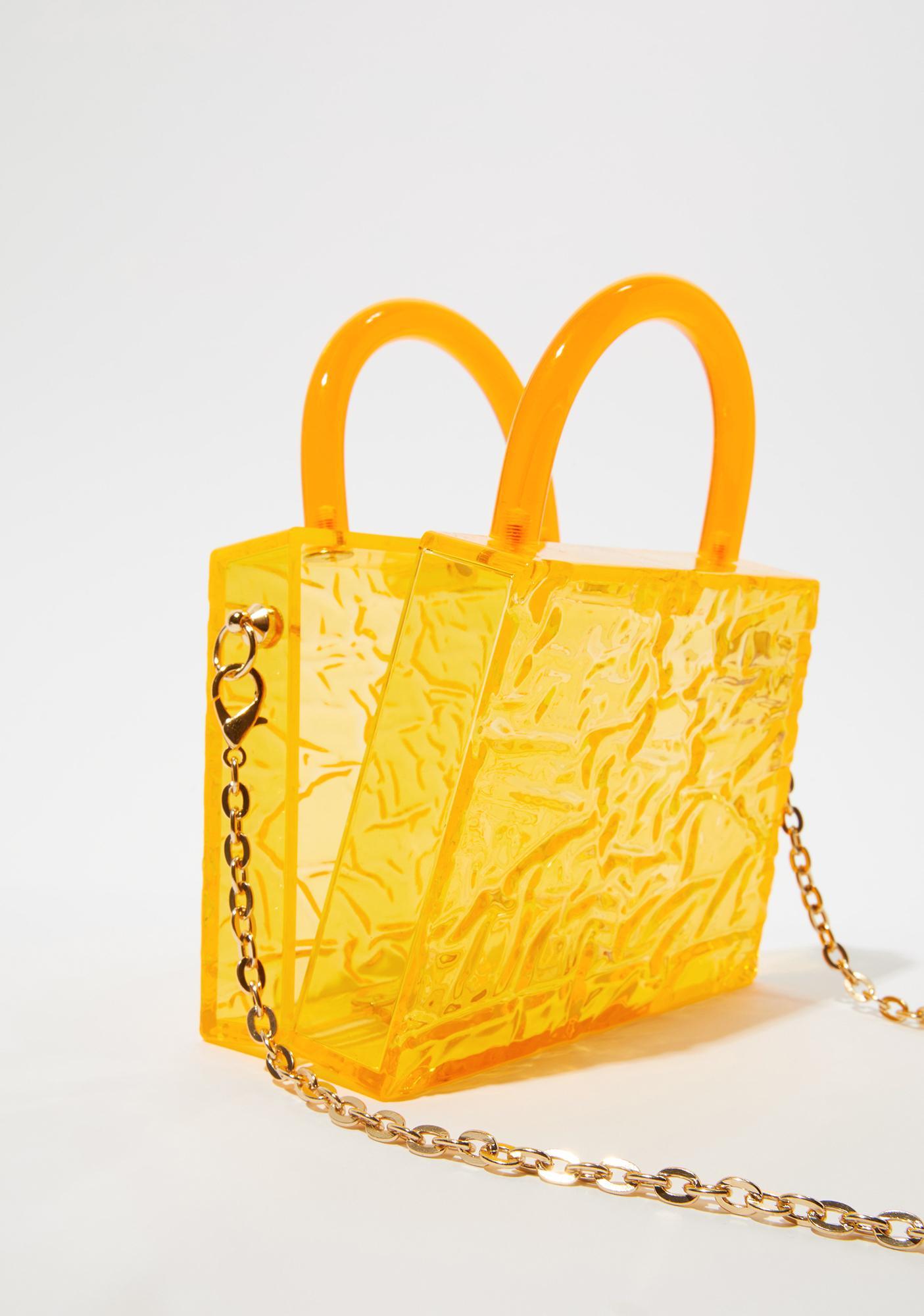 Citrus Atomic Love Clear Handbag
