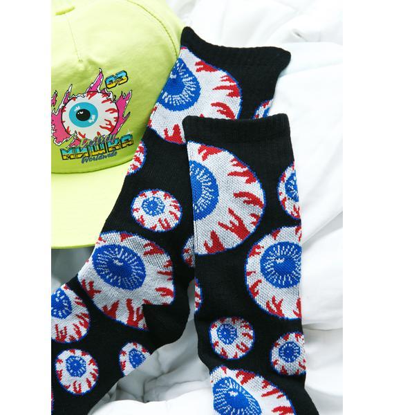 Mishka Heritage Keep Watch Pattern Socks