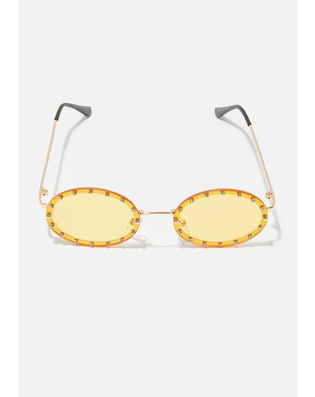 Mellow Hippie Heartbreak Oval Sunglasses