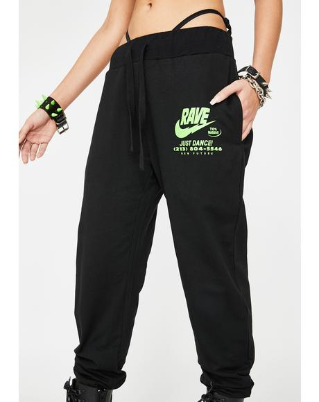 Illegal Rave Joggers