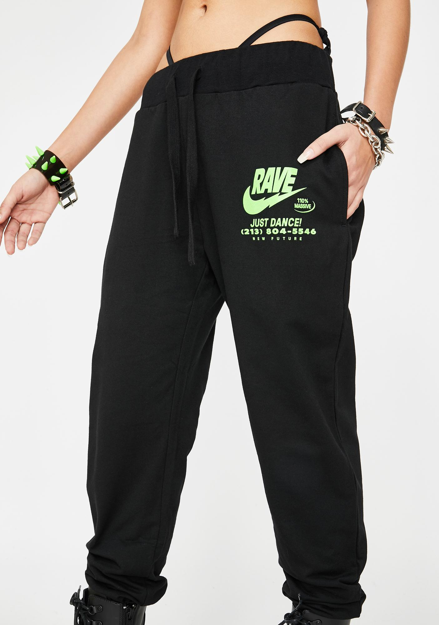 NEW FTR LDN Illegal Rave Joggers