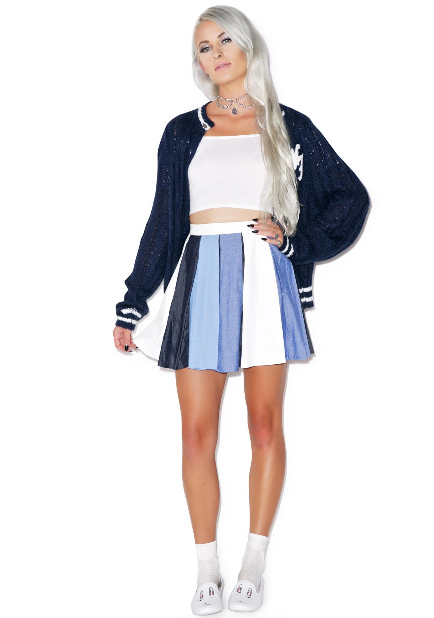 You Blue Me Away Skirt