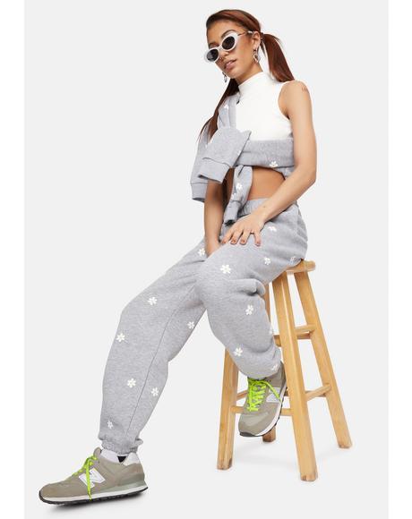 Daisy Printed Sweatpants