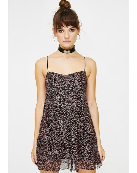 Leopard Sanita Babydoll Dress