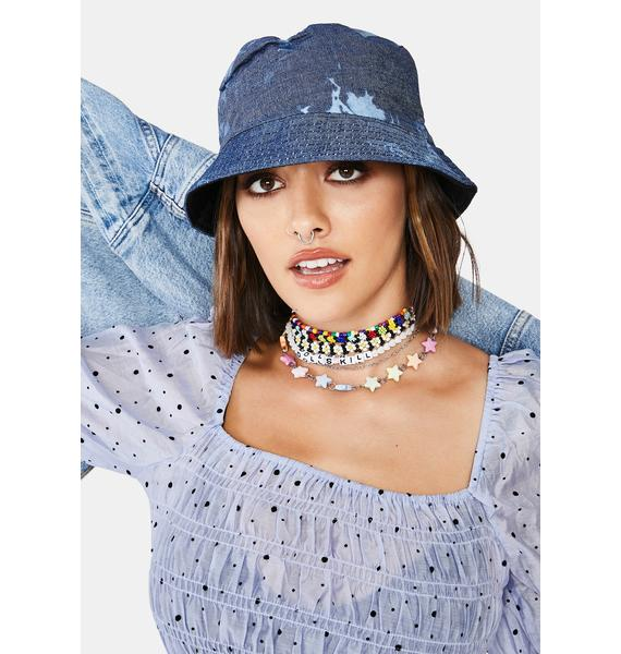 Y2K Queen Denim Bucket Hat