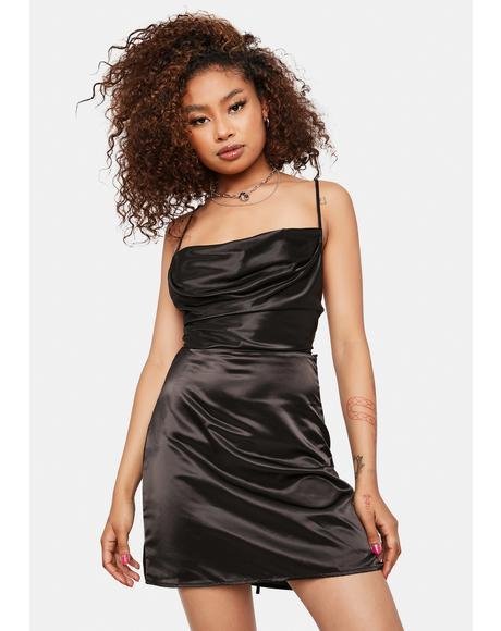 Content For The Gram Satin Mini Dress