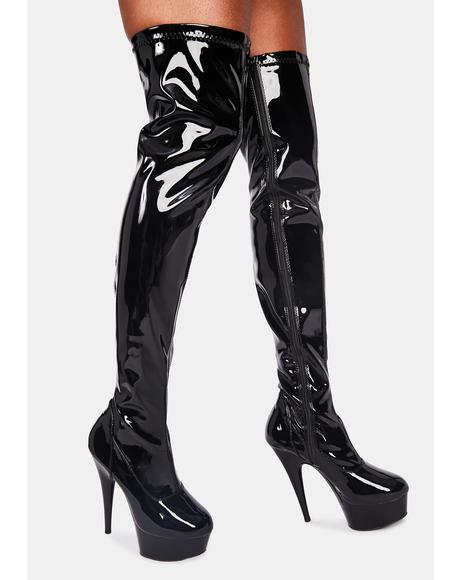Enter The Underworld Thigh High Boots