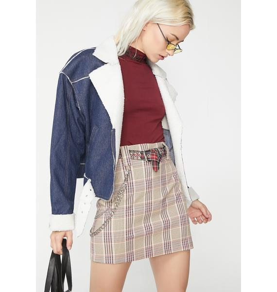 Xxxtra Credit Plaid Skirt