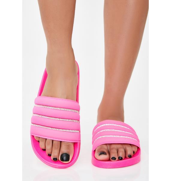 Suga If I Was Rich Rhinestone Sandals