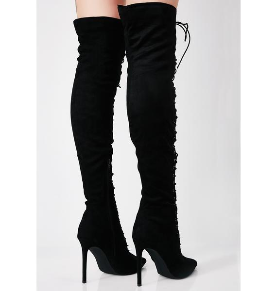 Money To Burn Thigh-High Boots