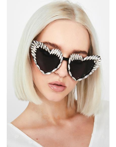 Lustrous Desire Heart Sunglasses