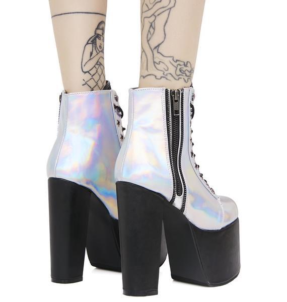 Demonia Lightspeed Holographic Boots