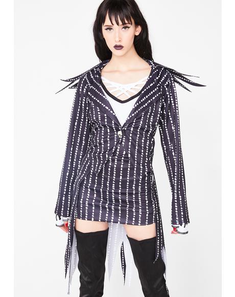Madame Skeleton Pinstripe Costume