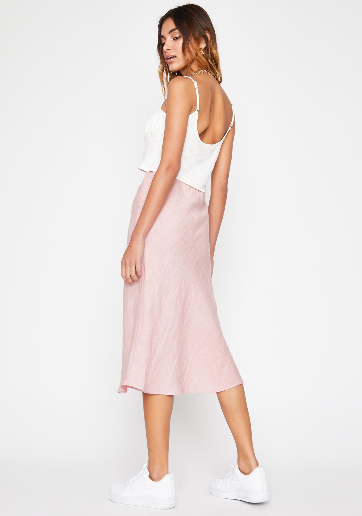 Rose Water Midi Skirt
