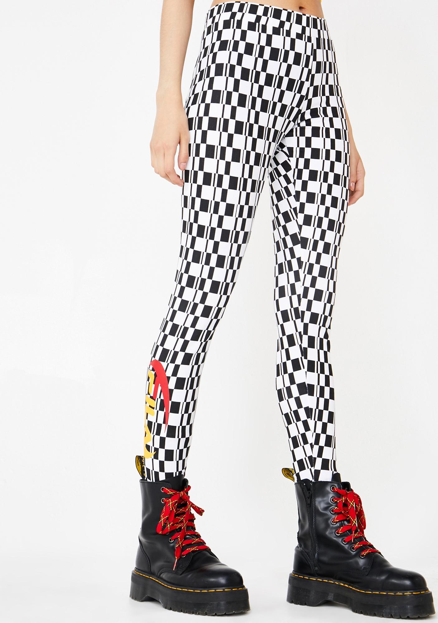 a4e134c91ac8 Fila Laia Checkered Leggings | Dolls Kill