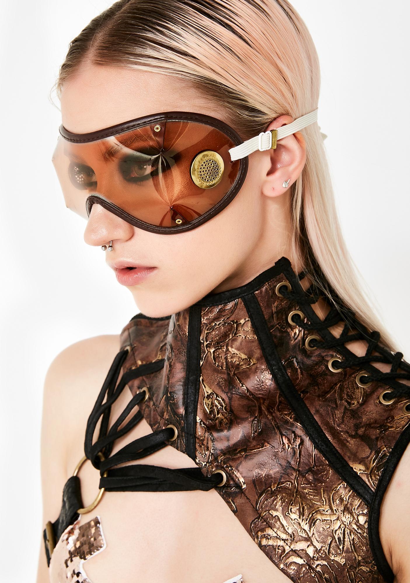 Sepia Rough Rider Goggles