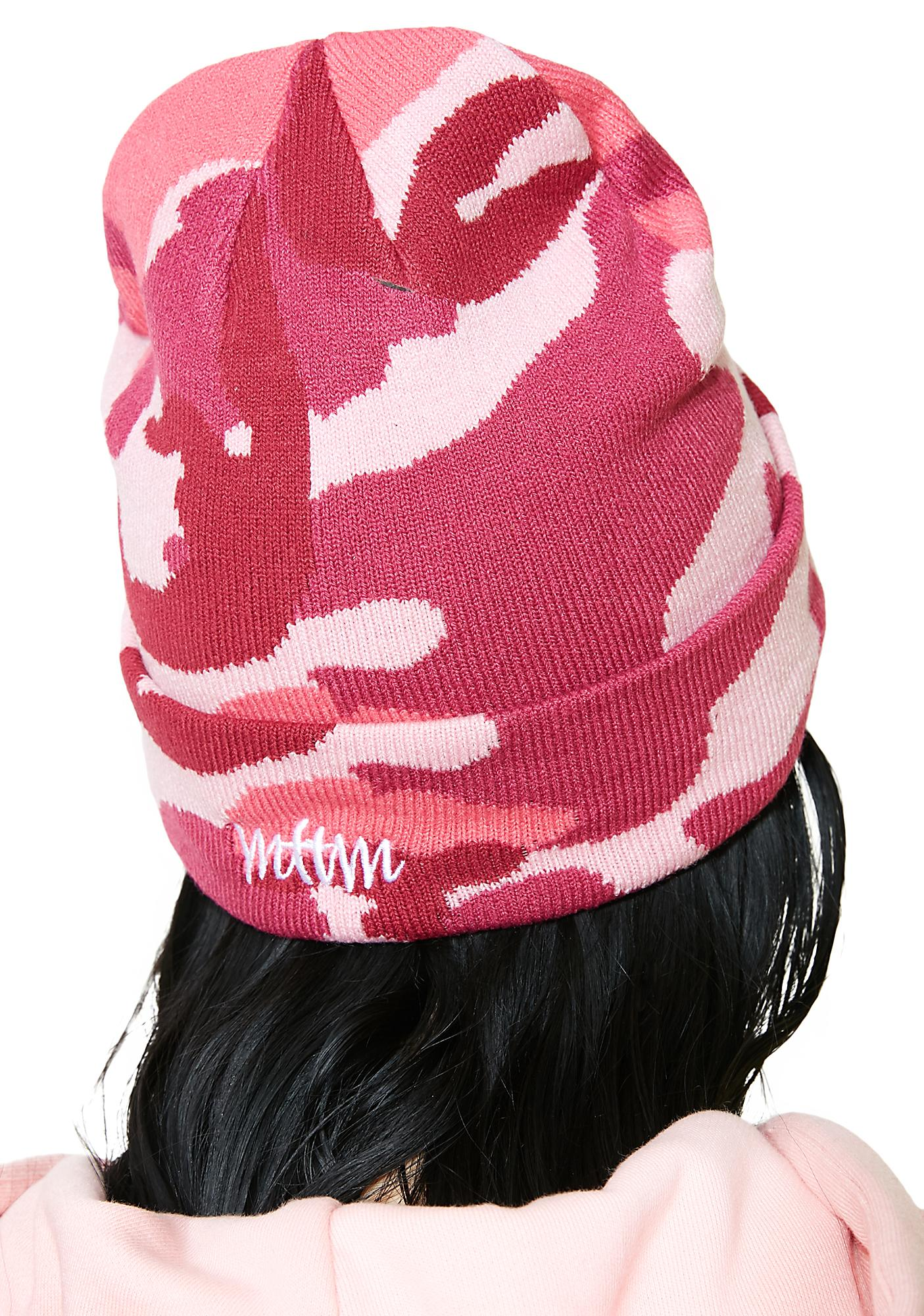64d00221b59 ... Married to the Mob x Penthouse Pink Camo Beanie ...